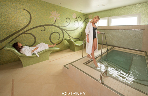 Hot tubs are included as your extra amenities or your day pass. Photo credit: Disney.com.