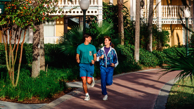 These two are a blast from Disney past, running along a New Balance trail. Photo Credit: Disney.com