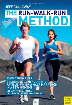 Jeff Galloway's Run-Walk-Run Method is proven to ease fatigue mid race. Photo Credit: Amazon