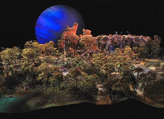 Pandora model for Animal Kingdom. Photo Credit: Theme Park Insider.