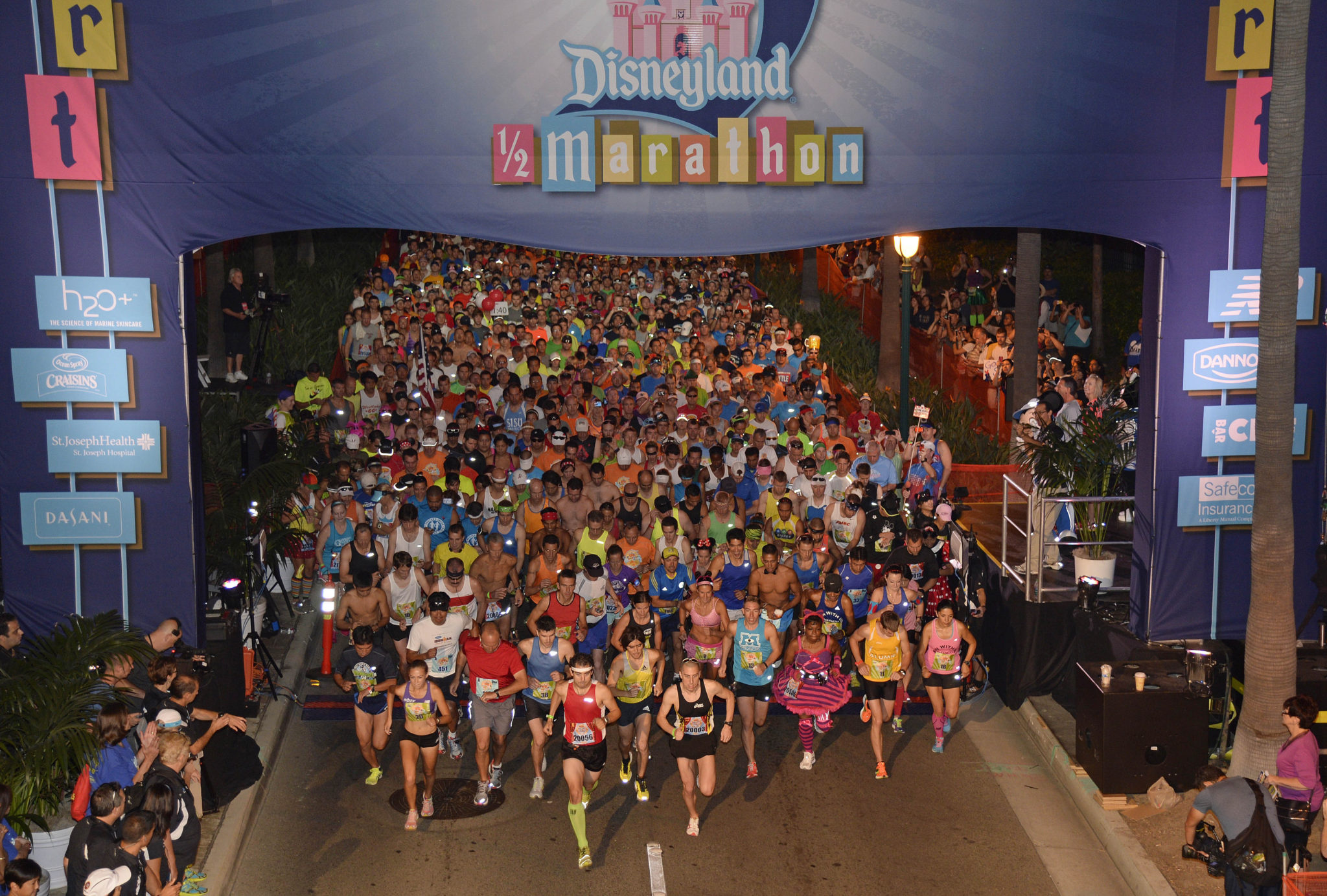 Disneyland Half Marathon Starting Line. Photo credit: Laughing Place.