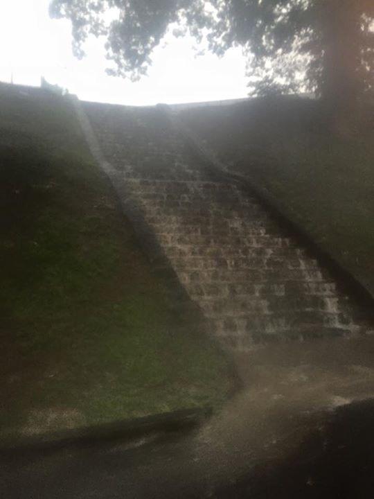 Piedmont Park in Atlanta was flooded. It was crazy.