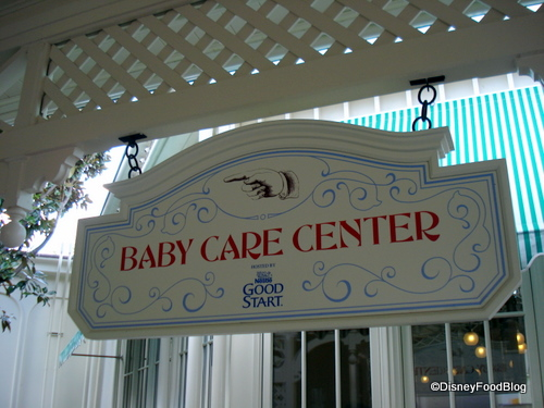 Baby Care Centers are located around the park. Photo Credit: Disneyfoodblog