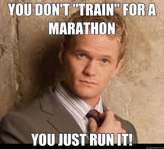No thanks, I'll train.