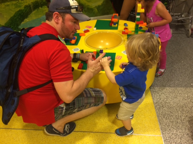 Let's build Legos with Dad!