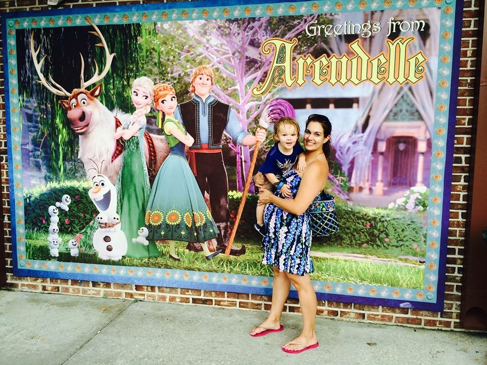 I had to take photo in front of the Frozen Fever sign!
