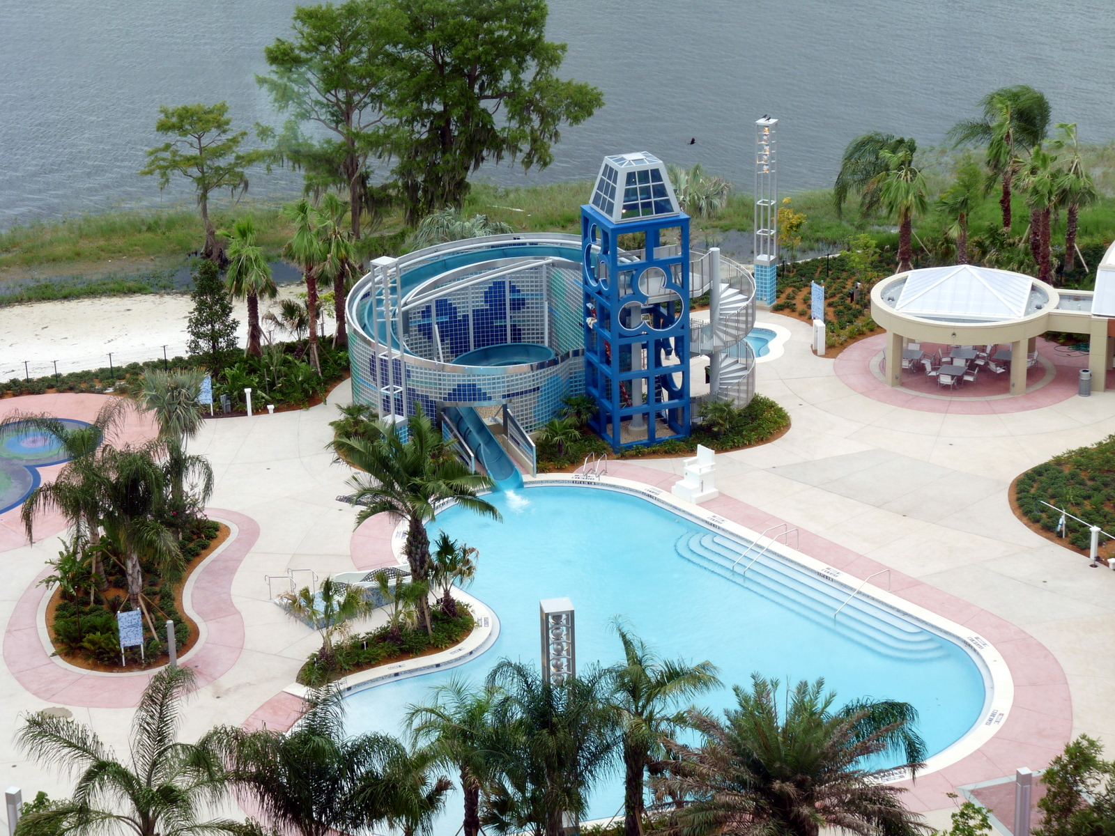 Bay Lake Towers Pool area. Photo Credit: Disney Parks Blog