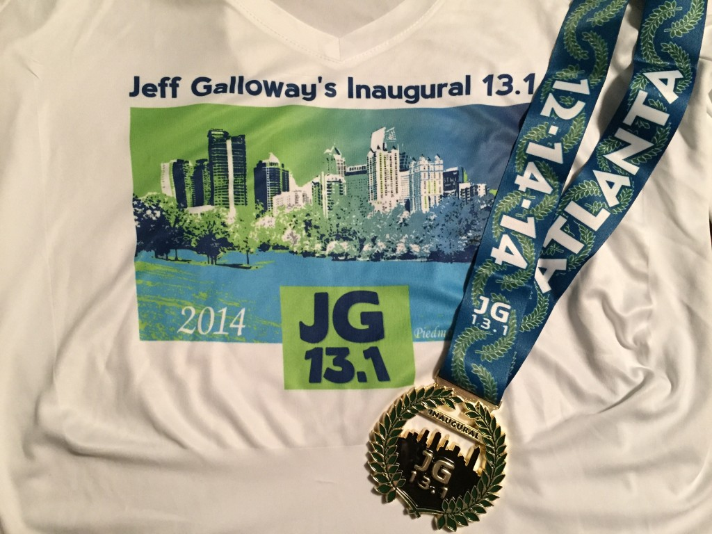 Last year's medal and shirt.