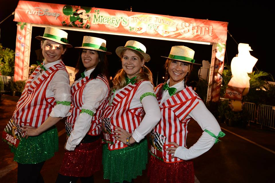 Love the holiday theme of the Jungle Jingle 5k. Photo Credit: Run Disney.