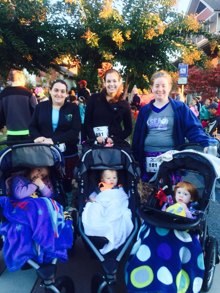 My friends and I pushed the kids in a 5k last Halloween.