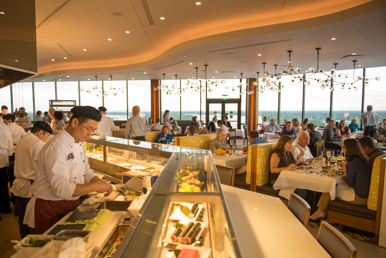 California Grill has amazing views over Bay Lake. Photo Credit: Music City Moms