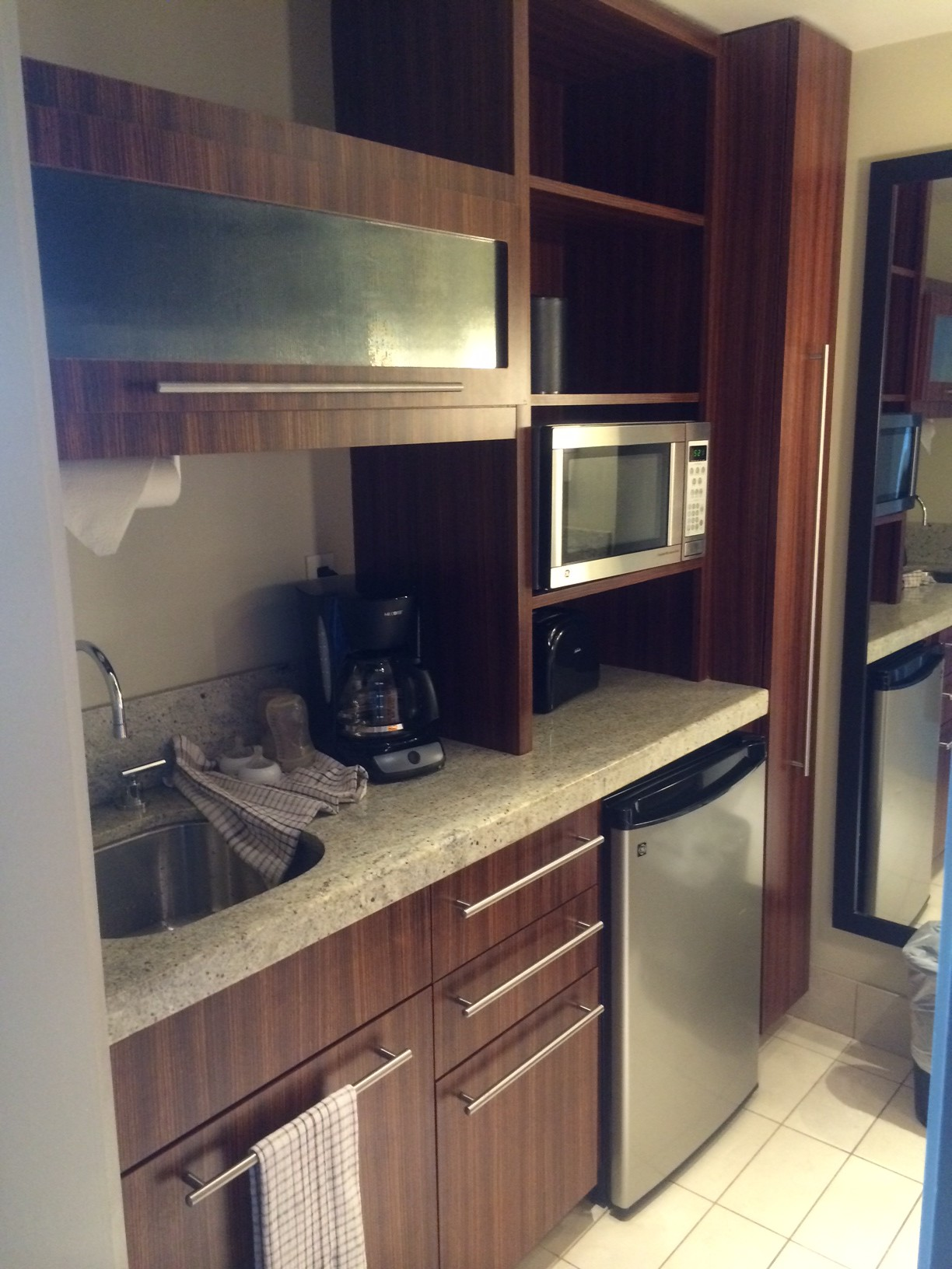 Kitchenette area of the Deluxe Studio.