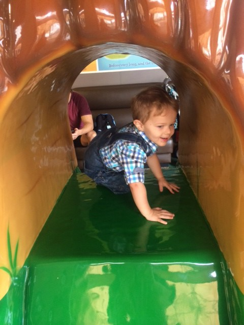 Avalon has a the perfect indoor/outdoor play area for toddlers.