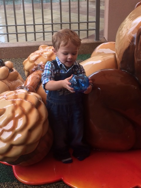 PNC Bank provided JP's first piggy bank!