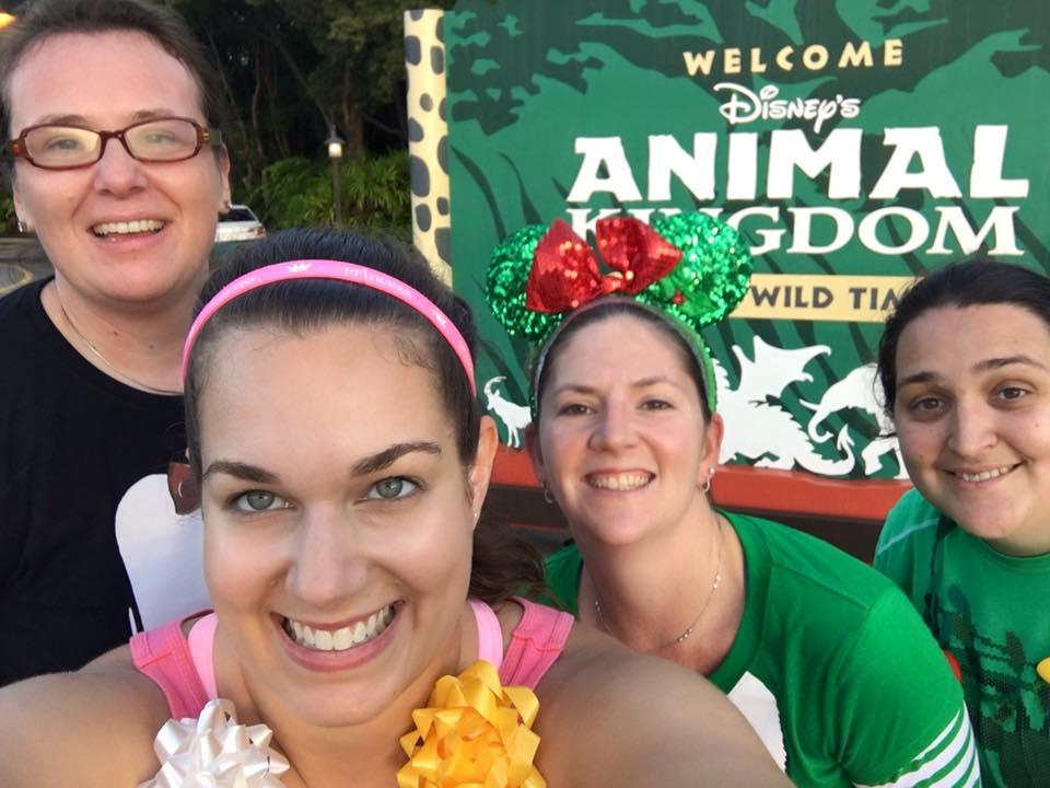Heading into Animal Kingdom after mile 1!