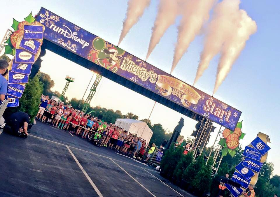 The Jingle Jungle 5k start. Photo credit: Run Disney.