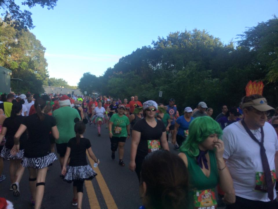 The crowding was awful because the course was so narrow.