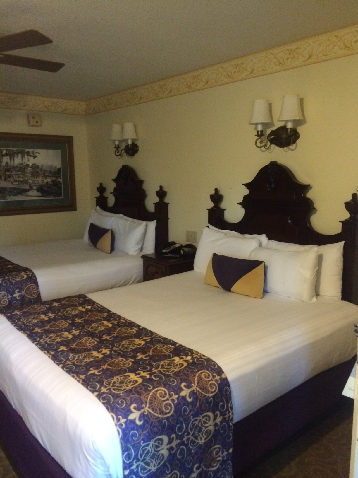 The standard room at French Quarter.