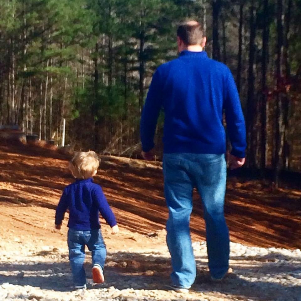 JP has loved spending some extra time with Daddy this week.