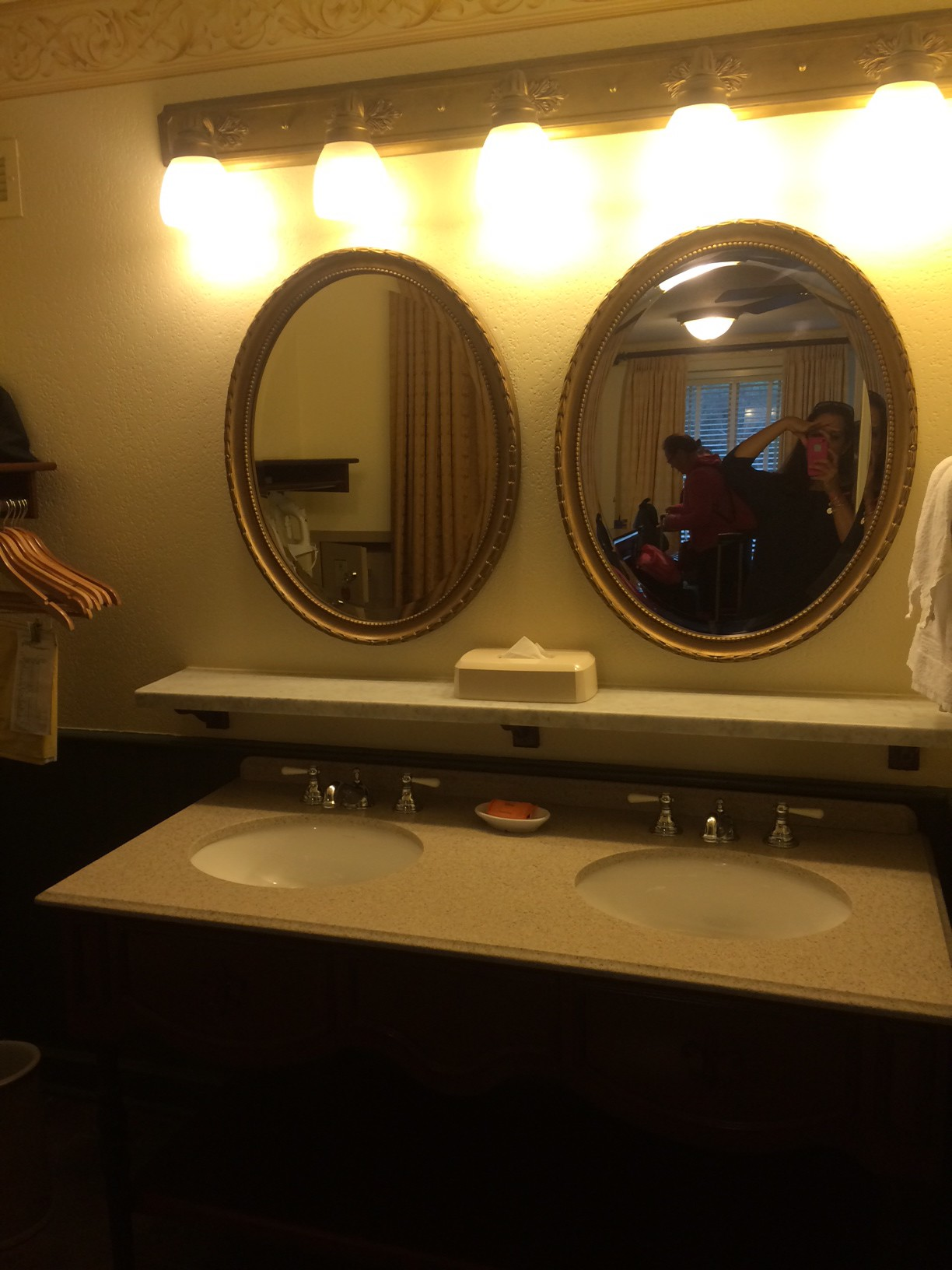 The double vanity.