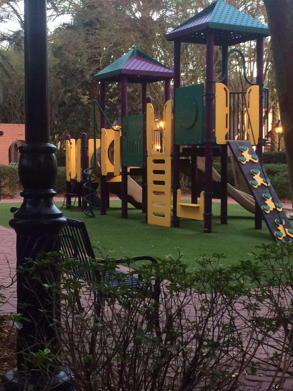 Love the kid's playground.