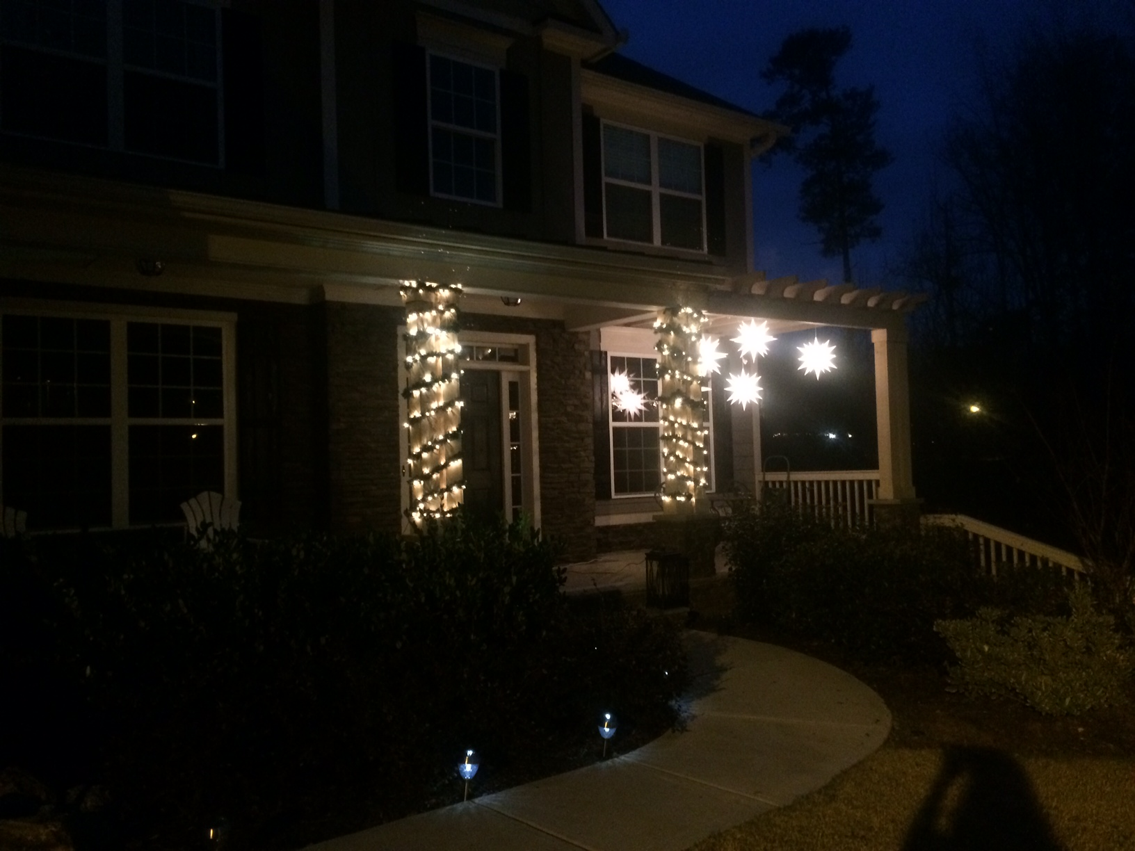 Love our new Christmas lights.