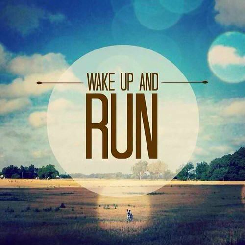 Just wake up and run! Photo credit: Freckled Runner.