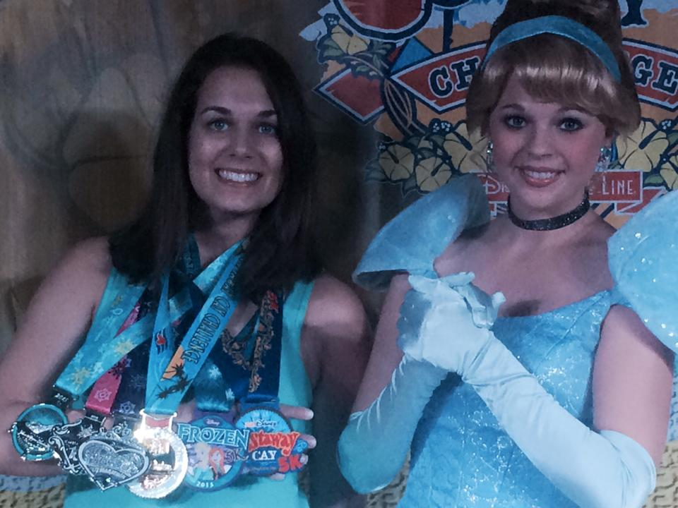 Of course, I had to get my photo taken with Cinderella after the Castaway 5k and Princess Half.