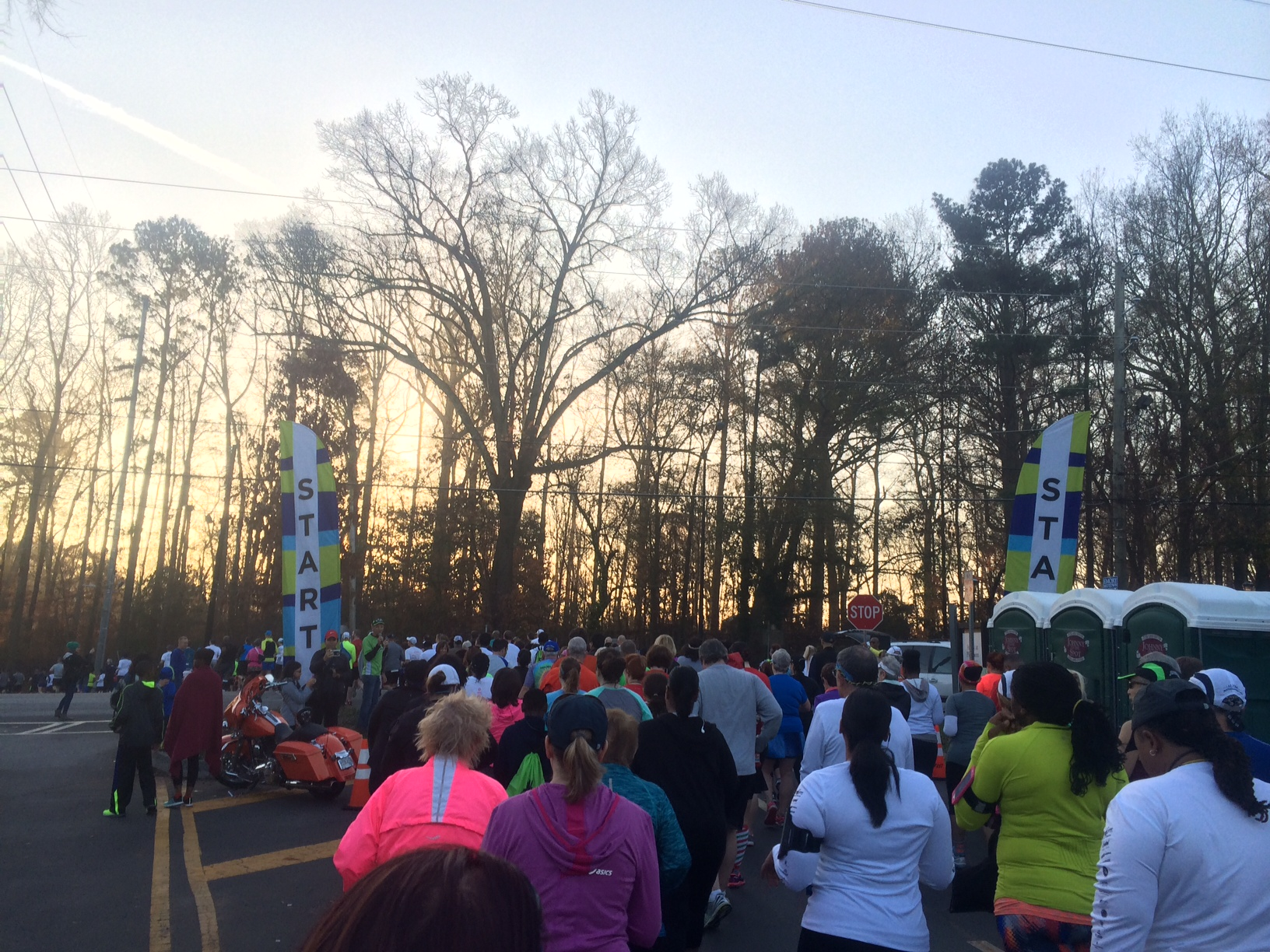 The starting line of Barb's 5k.