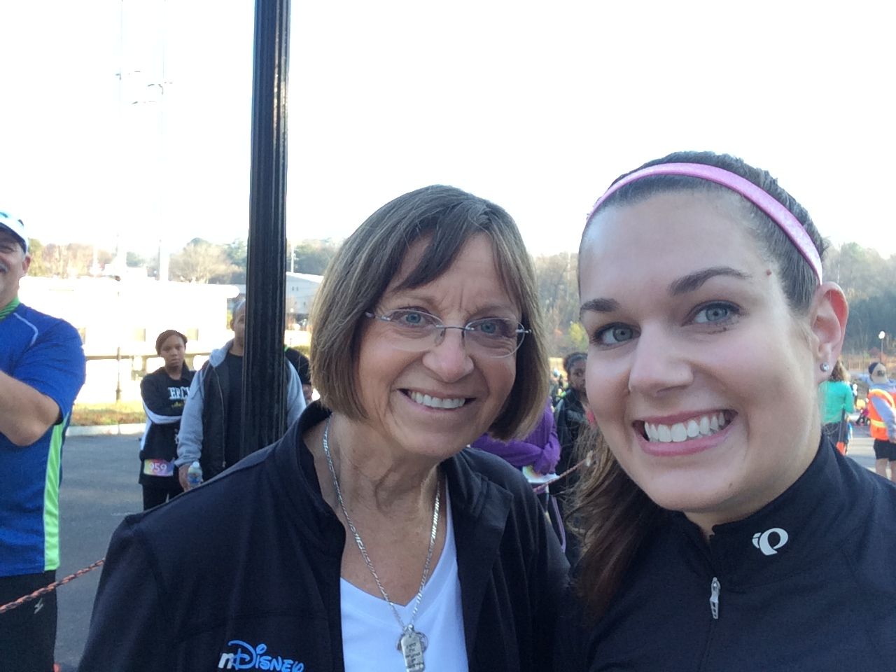 Barb Galloway congratulated me at finish line.