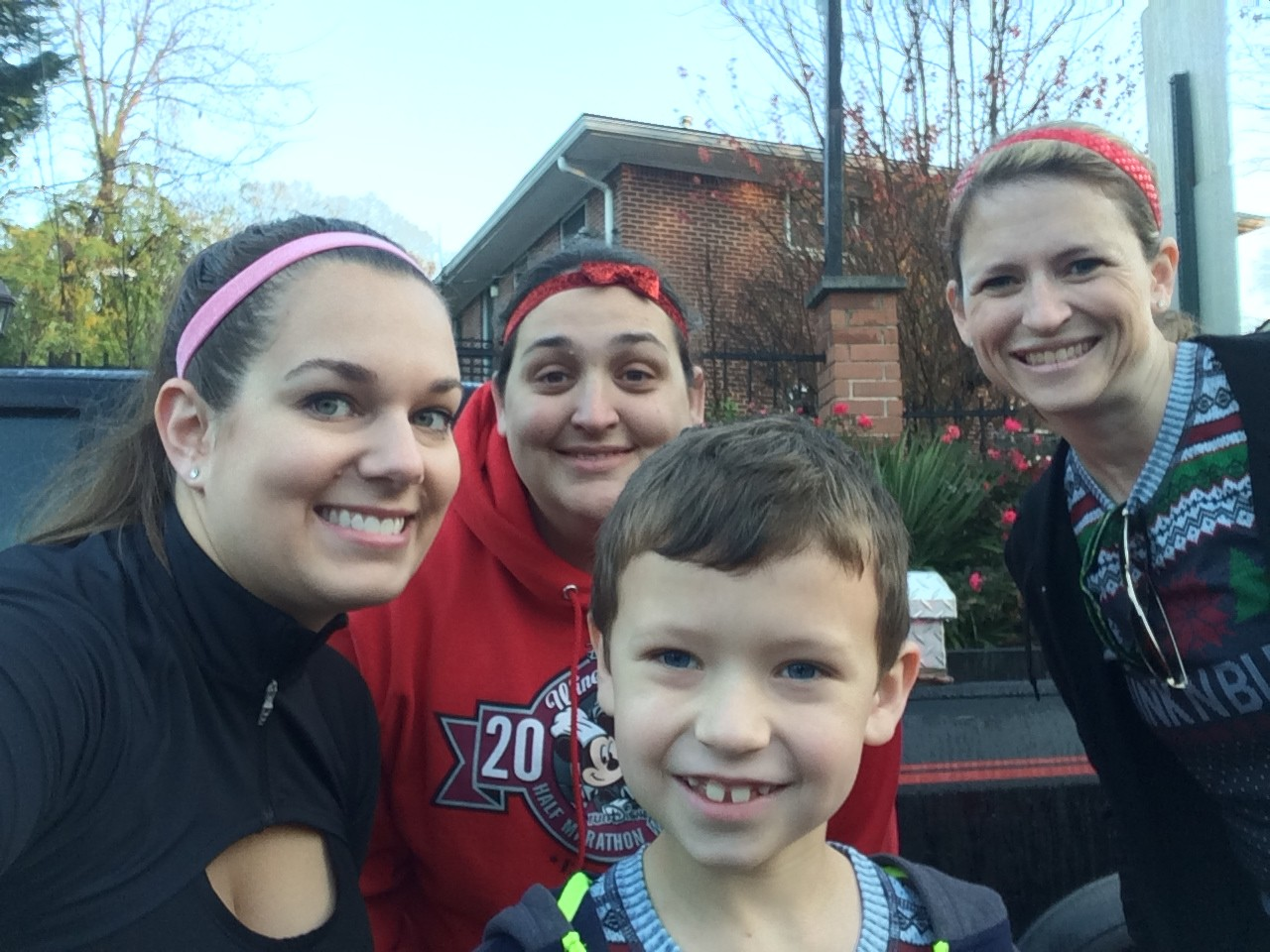 Ready to Run: Amy and I with Jen and her FAST son, Brendan!