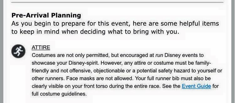Straight from Run Disney's Star Wars Light Side email to runners.