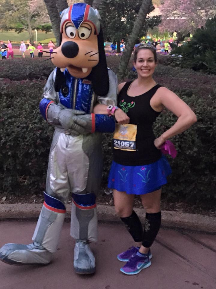 I loved the new 10k course for Glass Slipper Challenge. Meeting retro space Goofy was a blast!