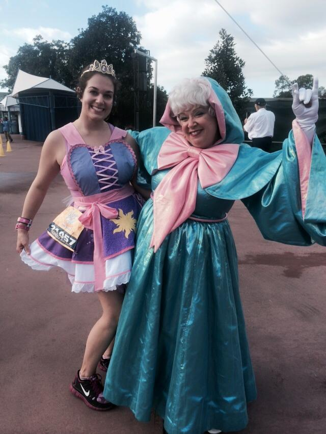 During the 2015 Princess Half, I stopped for a photo with the Fairy Godmother.