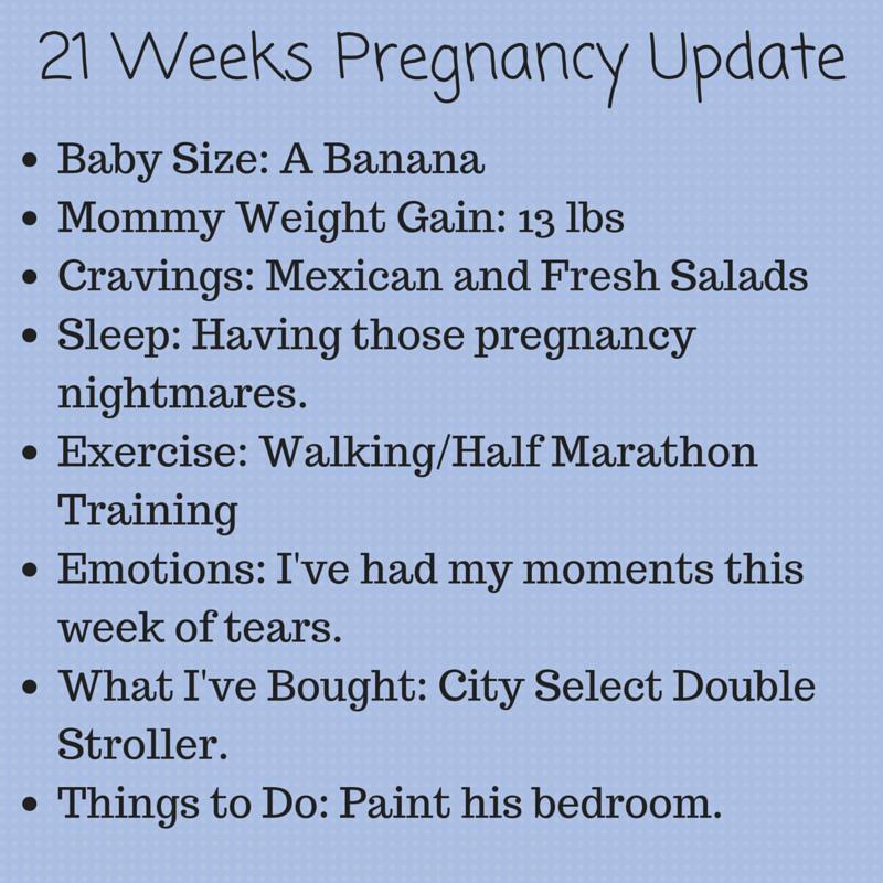 21 weeks pregnant, pregnancy update