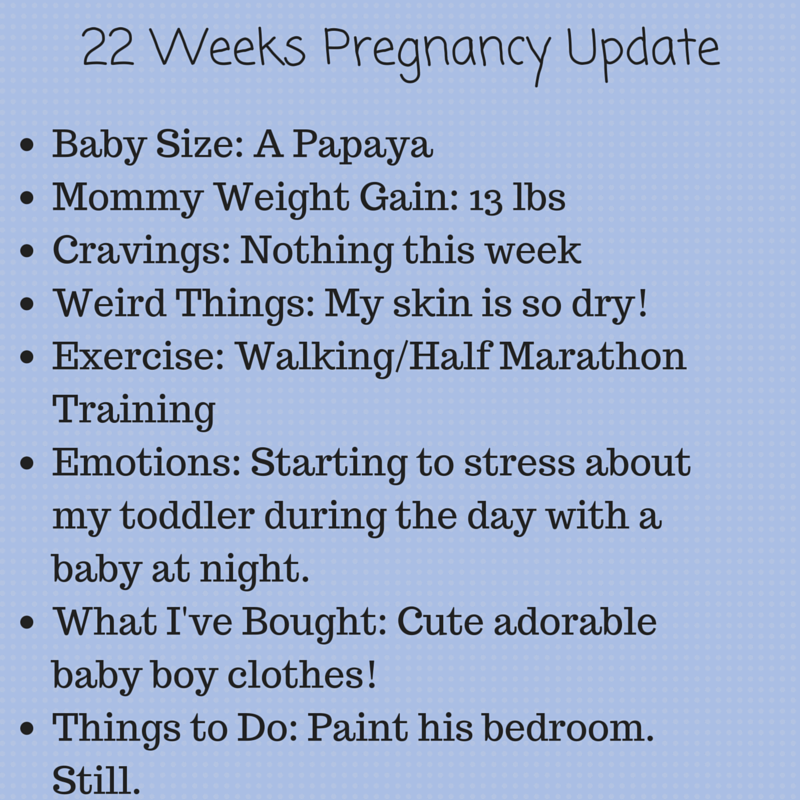 22 weeks pregnant update