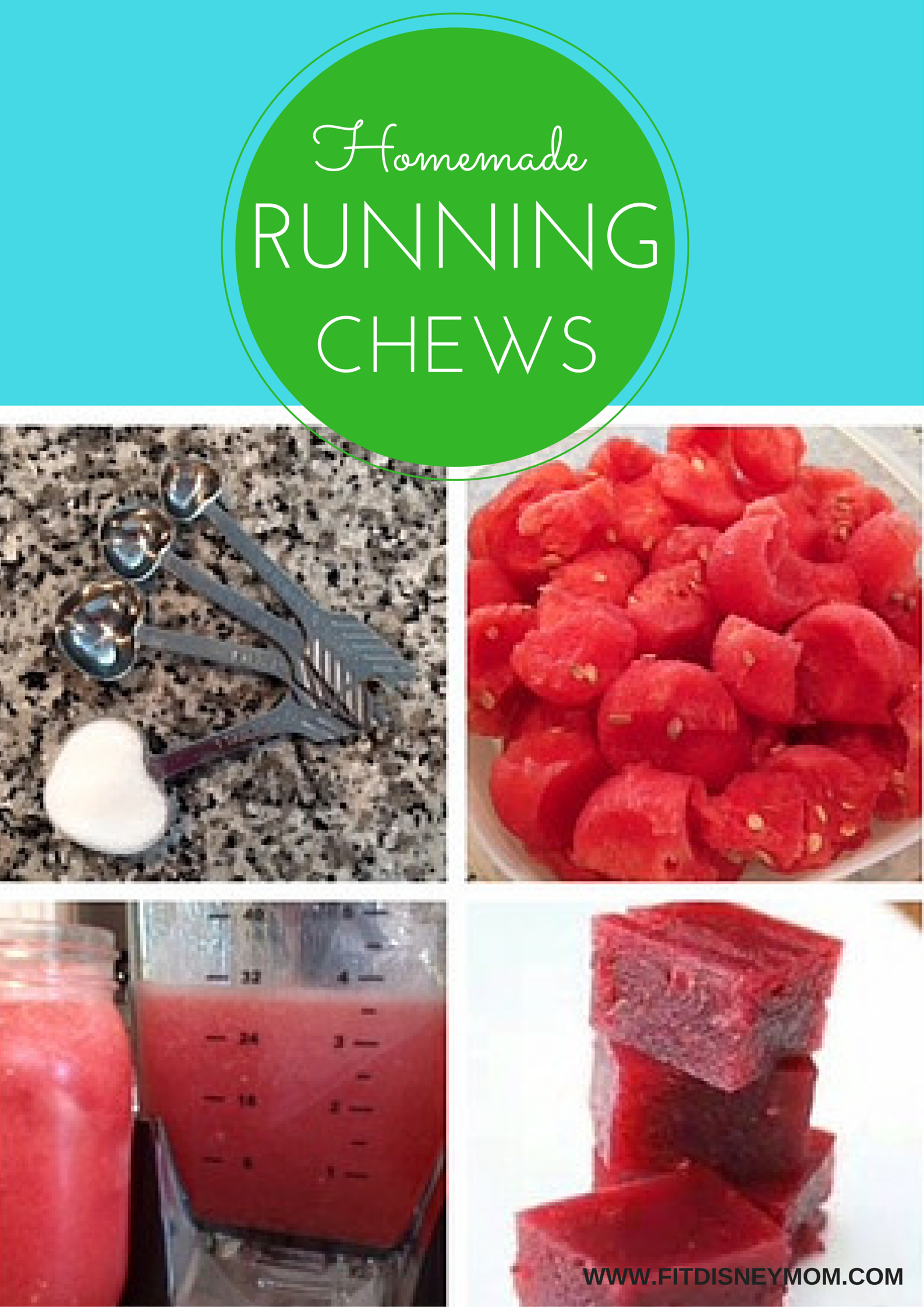 Homemade Watermelon Running Chews, Running Fuel, Homemade Running Fuel, Energy Chews, Running Fuel
