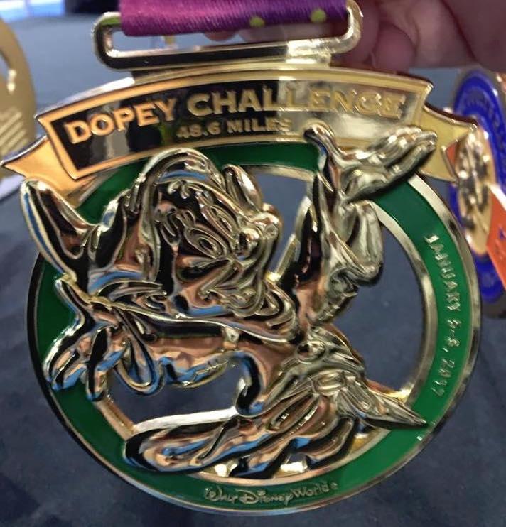 2017 Run Disney Dopey Challenge Medal