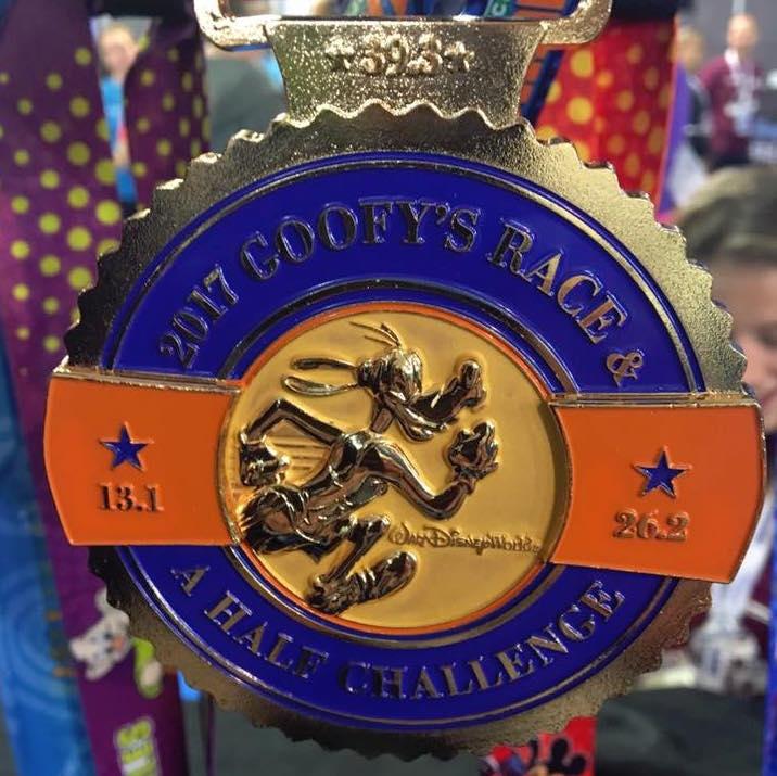 2017 Run Disney Goofy Challenge Medal