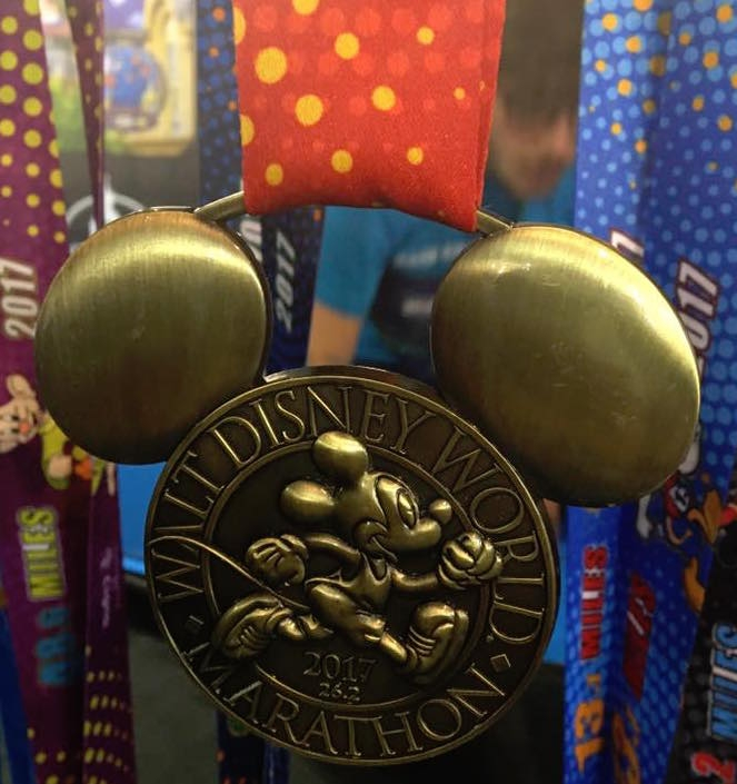 2017 Run Disney Walt Disney World Marathon Medal