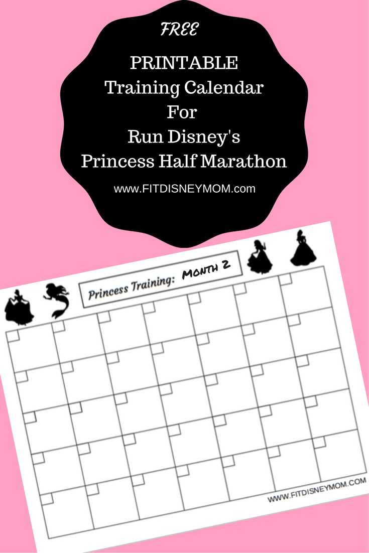 Half Marathon Calendar.Princess Half Printable Training Calendar And Giveaway Savvy Mama
