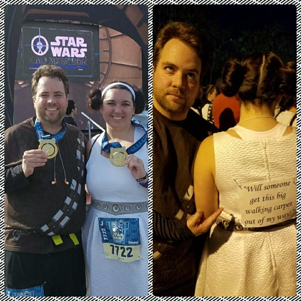 Run Disney Star Wars Light Side Costumes