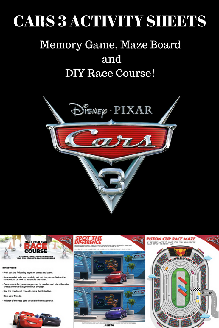 Cars 3 Activity Sheets, Cars 3 Stuff for kids, Cars 3 Games, Cars 3 toys