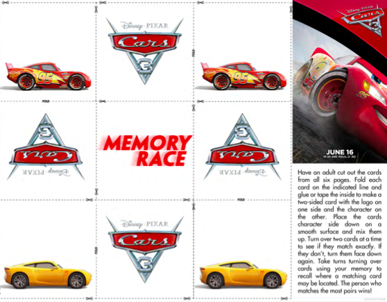 Cars 3 Activity Sheets, Cars 3 Games, Cars 3 Stuff for Kids