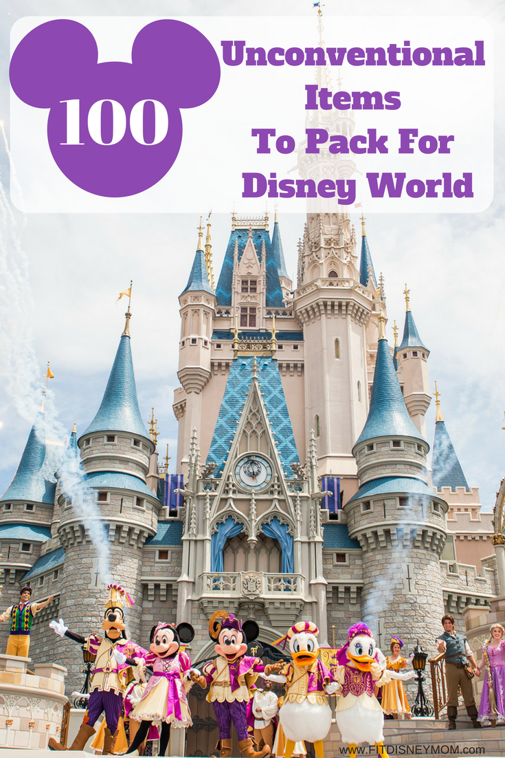 Unconventional items to pack for Disney, What to pack for Disney, Disney World Packing, Packing Tips for Disney, Disney With Kids, Disney World Planning, Planning