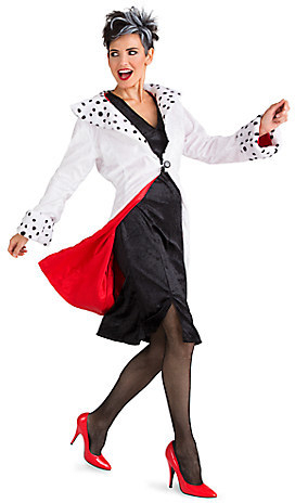 Women's Costumes, Disney Halloween Costumes, Cruella Halloween Costume, Disney Adult Costumes for Halloween