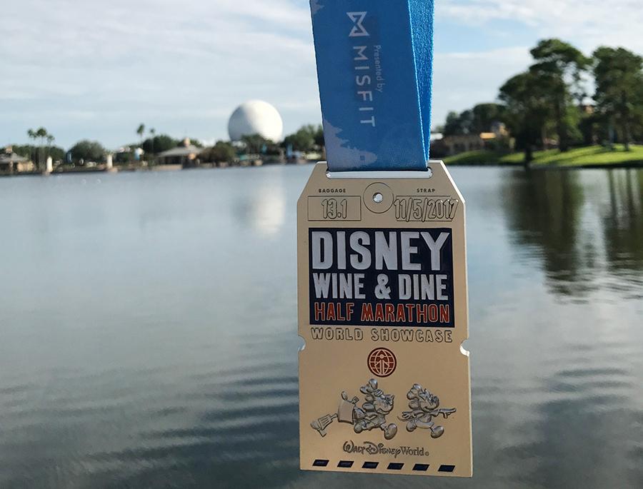 2017 Wine & Dine Half Marathon Medals, Run Disney Wine and Dine half Marathon Medal 2017, Run Disney Wine and Dine 2017