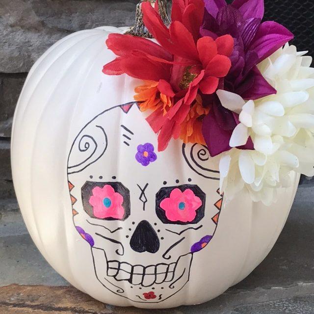 COCO craft, Disney pixar coco, coco movie craft, sugar skull pumpkin