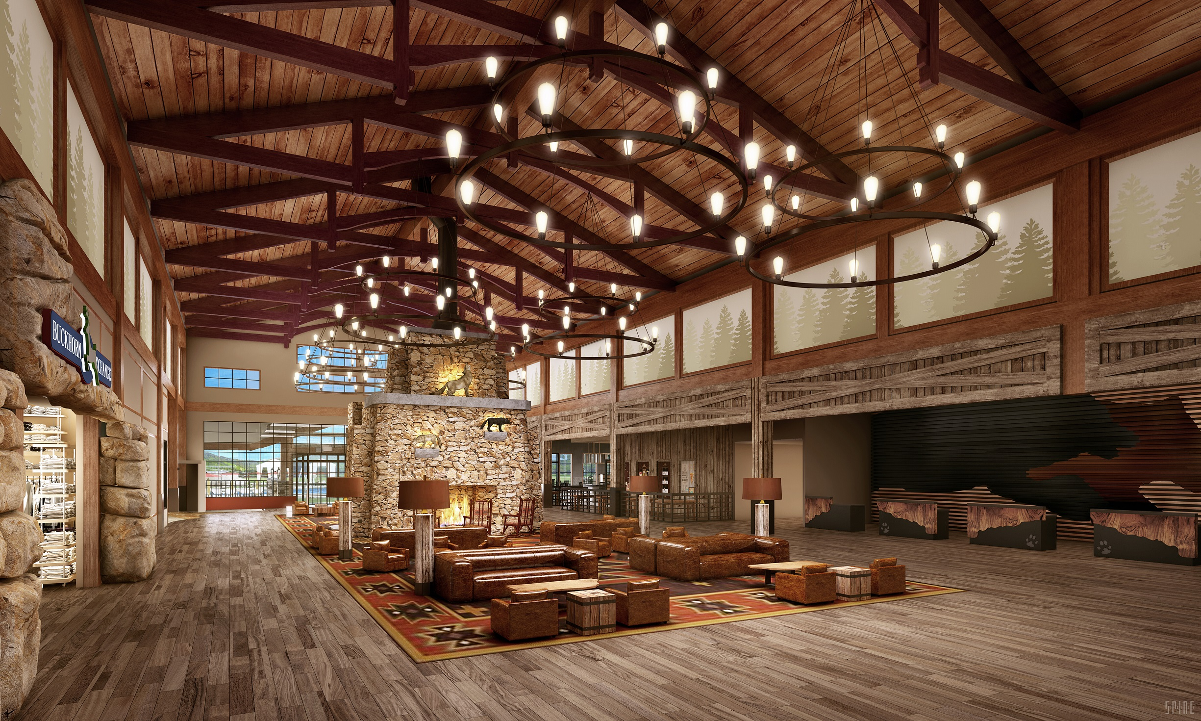 Great Wolf Lodge Atlanta, Great Wolf Lodge Georgia, Great Wolf Lodge La Grange, Great Wolf Lodge Grand Lobby