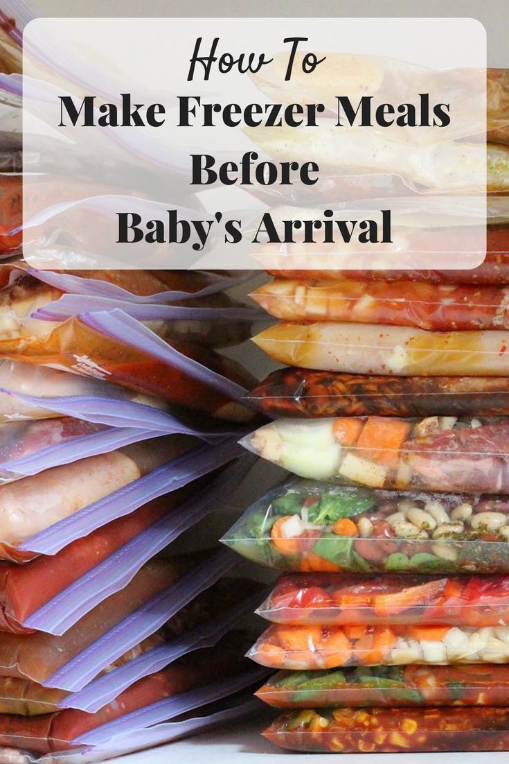 Freezer Meals, DIY Freezer Meals, Preparing for Baby